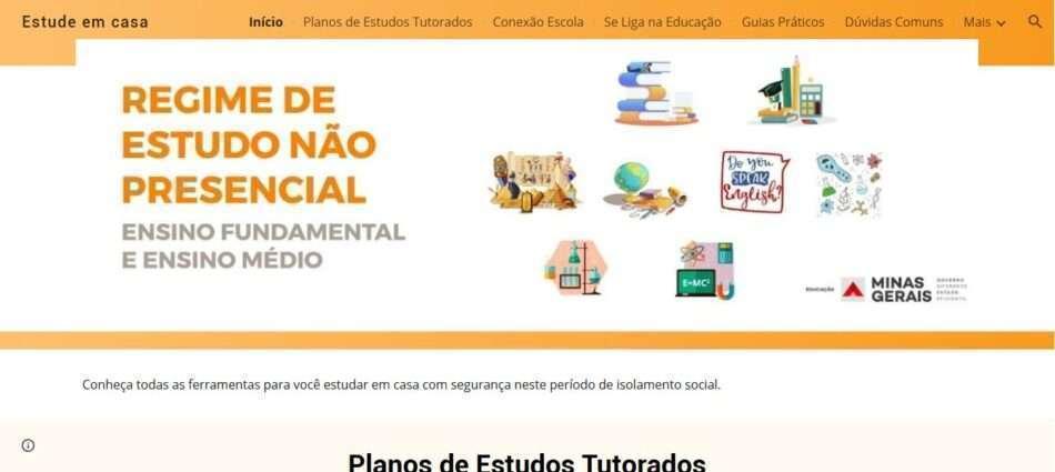 Site Com Informacoes Sobre Aulas Online Na Rede Estadual E Disponibilizado Mais Educacao